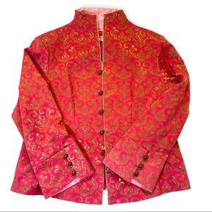 Asia Brocade Jacket, red pink gold, well made